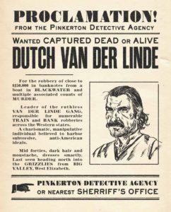 Wanted Dutch van der Linde